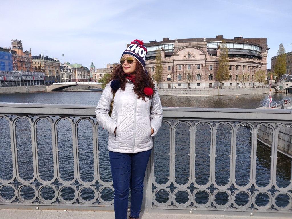 The Vasabron Bridge over Lake Malaren,  Stockholm, Sweden